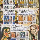 DB Burundi Pictura Picasso 130 ani de la nastere   5  MS  MNH, Nestampilat