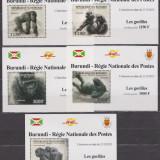 DB Burundi Fauna Gorila serie de lux  MNH, Nestampilat