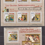 DB Comore Pictura  Toulouse Lautrec MS +  SS   MNH, Nestampilat