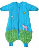 Sac de dormit cu picioruse si maneca lunga detasabila Pony 18-24 luni 2.5 Tog, Multicolor