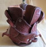 Etui-cupă de premiu piele bivol argentinian, hand made