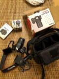 Canon 600D + obiectiv Canon 18-55 +lentila macro Raynox +geanta originala Canon