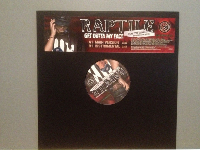"RAPTILE – GOT OUTTA MY FACE (2000/MONSTABLOKAZ) - VINIL Maxi-Single ""12/RAP/NM"