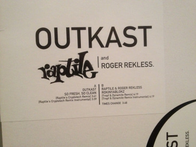"OUTKAST /RAPTILE – SO FRESH …(2001/BMG/GERMANY) - VINIL Maxi-Single ""12/RAP/NM foto"