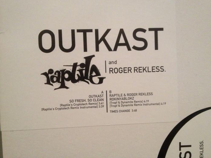 "OUTKAST /RAPTILE – SO FRESH …(2001/BMG/GERMANY) - VINIL Maxi-Single ""12/RAP/NM"