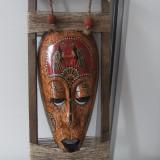 Superba  masca africana,veche,pe cadru lemn,lucrata manual,stare perfecta.
