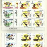 Disney MNH - diverse tari - blocuri de 4 - in total 376 timbre, Animatii, Nestampilat