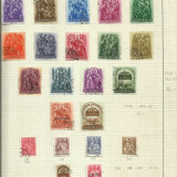 Album continand 19 planse cu timbre si plicuri Romania Ungaria