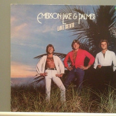 EMERSON LAKE & PALMER – LOVE BEACH (1978/ARIOLA/RFG) - Vinil/Impecabil (NM+)