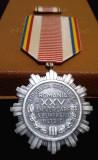 Medalia 23 August 1944-1969 Republica Populara Romana + cutie & Bareta - SUPERBA