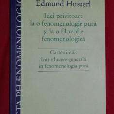 Idei privitoare la o fenomenologie pura... VOL I / E. Husserl