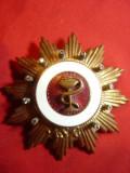 Ordinul Meritul Sanitar cl.IIIa , metal si pietre zirconiu