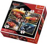 Puzzle 4 in 1 - Cars 3, Pregatiti de cursa, 207 piese, Trefl