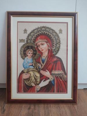 Goblen Maica Domnului, facatoare de minuni foto