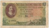 AFRICA DE SUD RESERVE BANK 5 POUNDS 1956 VF