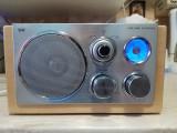 RADIO CU ASPECT RETRO DE LEMN TCM ,12 WATT,AM/FM IN STARE FOARTE BUNA