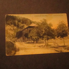 Cp calimanesti caciulata pavilionul de cura interbelica cp 40, Circulata, Printata