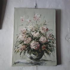Tablou Vaza cu Flori, Ulei, Realism