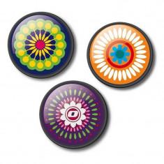 Insigne, 3 buc / set, Roller Nikidom Mandala