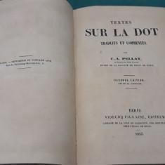 TEXTES SUR LA DOT *TRADUITS ET COMMENTES/C.A.PELLAT/1853