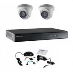 Sistem supraveghere basic Hikvision 2 camere DOM 720P