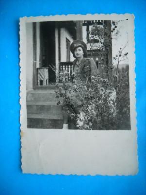 HOPCT 207 G TANARA IN UNIFORMA IN ANUL 1944 -FOTOGRAFIE MILITAR ROMAN-78/58 MM foto