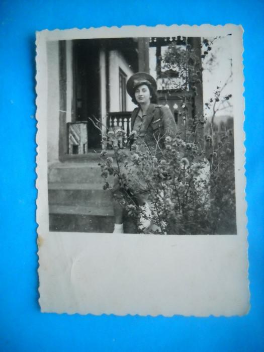 HOPCT 207 G TANARA IN UNIFORMA IN ANUL 1944 -FOTOGRAFIE MILITAR ROMAN-78/58 MM