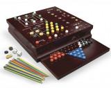 Cardinal Games - Set 10 jocuri in cutie de lemn