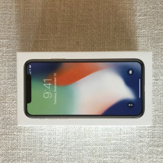 IPhone X 64GB, Argintiu, Neblocat, Apple
