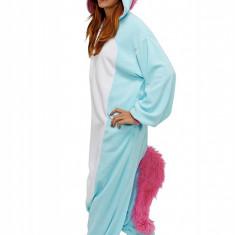 PJM43-4 Pijama intreaga kigurumi, model unicorn, L, M, M/L, S/M