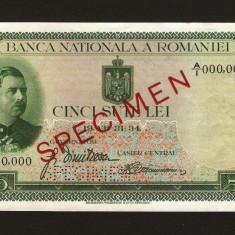 ROMANIA -  500 lei - 1934 SPECIMEN . SUPER PRET !