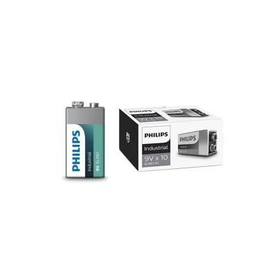 Philips Industrial 9V 6LR61 Alkaline Conţinutul pachetului 10 Bucăți foto