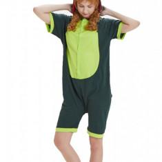 PJM66-12 Pijama intreaga cu pantaloni scurti, model dinozaur, L, M, M/L