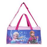 Travel bag Frozen roz cu albastru