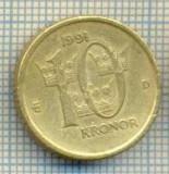 11237 MONEDA -SUEDIA(SVERIGE) - 10 KRONOR -ANUL 1991MEDAL -STAREA CARE SE VEDE, Europa