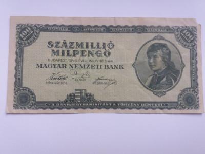 Ungaria 100 millio pengo 1946 foto