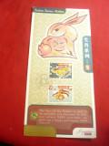 Carton FDC cu Serii Zodii - Anul Iepurelui 1999 Singapore
