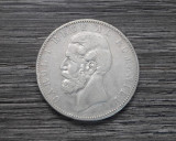 5 Lei 1883 Moneda argint Romania Regele Carol I!