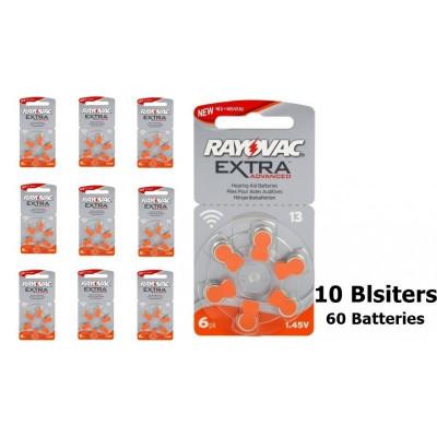 Rayovac Extra Advanced 13 MF baterii aparate audit Continutul pachetului 10x Blistere foto