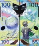 Rusia 2018 - 100 ruble UNC, polimer, CE fotbal