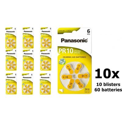 Panasonic 10 MF baterii aparate auditive Set 10x Blistere foto