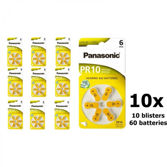 Panasonic 10 MF baterii aparate auditive Set 10x Blistere