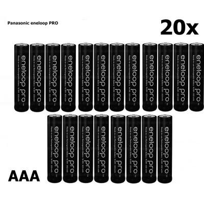 AAA R3 Panasonic Eneloop PRO Rechargeable Battery Set 20 Bucăți foto