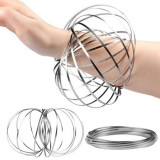 Bratara Kinetica Flow Ring Anti-Stres si Relaxare, Metalica