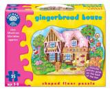 Puzzle De Podea Casuta De Turta Dulce (35 Piese) Gingerbread House, orchard toys