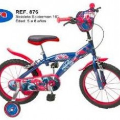 Bicicleta 16'' Spiderman, Toimsa