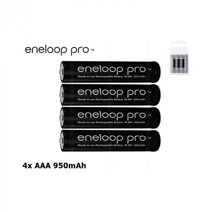 AAA R3 Panasonic Eneloop PRO Rechargeable Battery Conţinutul pachetului 4 Bucăți