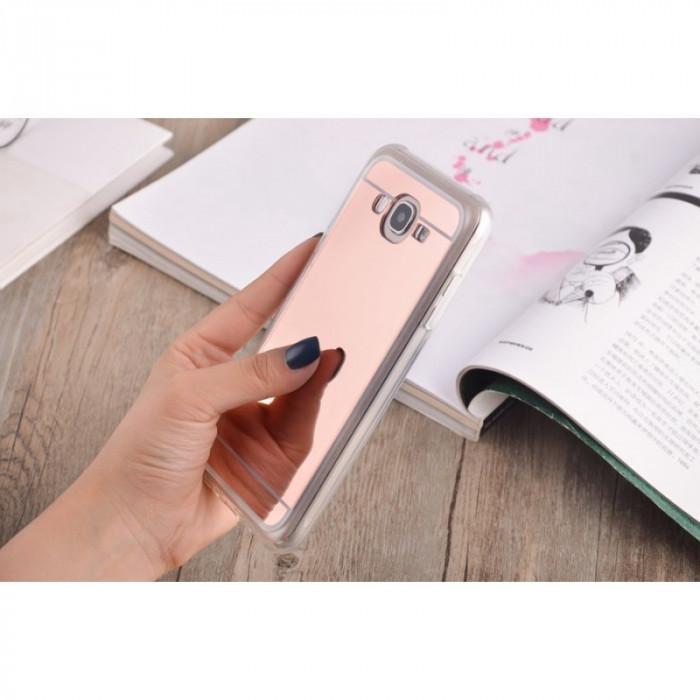 2in1 Oglindă si Husă pentru Samsung Galaxy S8 Culoare Roz