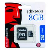 Kingston Micro SDHC + SD Adapter Capacitate 8GB, Micro SD, 8 GB