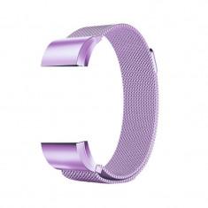 Bratara metalica pentru Fitbit Charge 2 cu inchide Culoare Violet, Mărime S (Small)